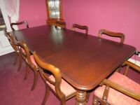 PERIOD DINING TABLE & CHAIRS