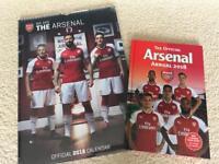 Arsenal Annual 2018 and Arsenal Calendar 2018 Brand New
