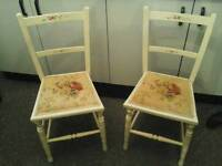 Pair pretty, dainty, old Chairs - Exeter