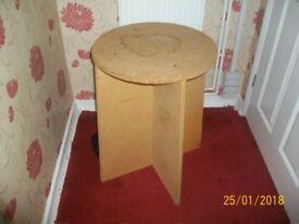 Circular Chipboard bedside ~ Display Table