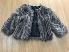 Girls new look fur jacket