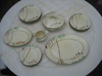 J H Wetherby and Sons Falconware hand painted 22 piece dinner set