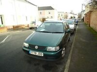 VW Polo - posh green colour, petrol 1.4. Year 1999 2 door hatchback