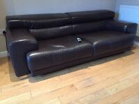Motorised Extendalbe Italian Leather Sofa