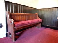 PEW Solid bench seat genuine church pews
