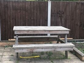 Large Wooden picnic bench