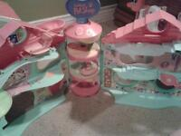 Littlest pet shop houses, pets and accesories, game collection