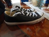 Mens Black Converse Trainers UK Size 8