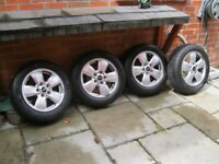 Mini Cooper alloy wheels and tyres and pressure sensors