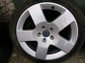 Genuine 7x17 ronal audi alloys and good tyres