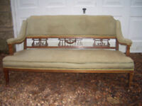 Antique seat for restoration project