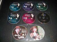 Bundle of 8 DVDs (Agatha Christie's Poirot & Miss Marple)