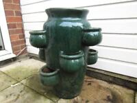 A NICE LARGE PLANT POT. 24 INCHES TALL APPROX.