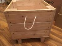 Sturdy toy box from up-cycled wooden pallets for sale