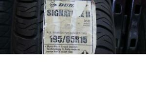 P195/65/15 SINGLE DUNLOP SIGNATURE TIRE - SINGLE ONLY BRAND NEW