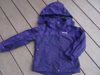 Mountain Warehouse girls waterproof jacket age 5-6 yrs, Immaculate cond.