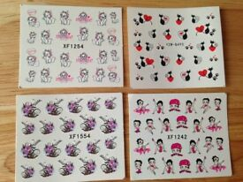 Nail Art Stickers - Water Decals - Transfers - 4 Designs Available