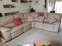 Pebble colour corner sofa bed