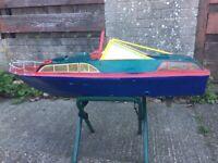 Vintage Fairey Huntsman 46 inch Model RC Boat Radio Controlled IC Nitro Petrol Brushless