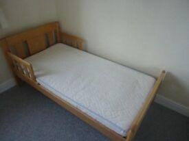 John Lewis light oak Toddler bed