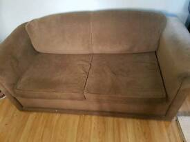 2 seat sofa bed and armchair