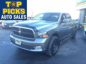 2010 Dodge Ram 1500 SPORT, BUCKETS AND CONSOLE, SPORT SEATS, 4X4