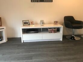 White Gloss TV unit, fits up to 50 inch TV