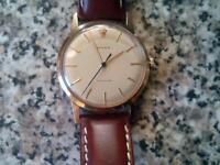 Rolex vintage 9ct precision men's gold watch