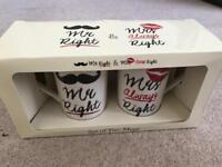 Mr & Mrs Right Mugs