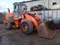 2004 Hitachi LX 170 E wheel loader 7000 Hours. Weight system. Air con.