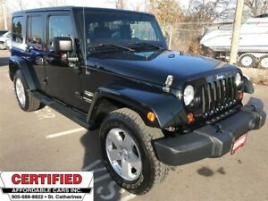 2012 Jeep WRANGLER UNLIMITED Sahara ** HTD LEATH, NAV, BACKUP CA