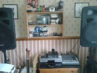 My PA system complete with radio mic and all leads