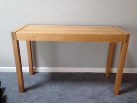 NEXT Solid oak console hall table