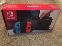 Nintendo Switch console. Brand new in box