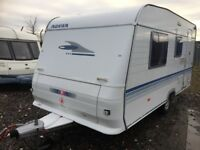 2006 Adria fixed bed 4 berth 16ft front loung light weight hot and cold running water 3 way fridge