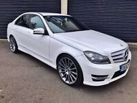 2013 MERCEDES C250 CDI AMG SPORT BLUEEFFICIENCY 2.2 AUTO WHITE FSH