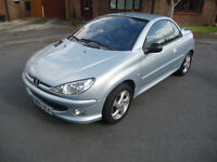 Peugeot 206 cc Allure 1.6 Petrol Manual Silver! Priced for Quick Sale! £700 Ono!