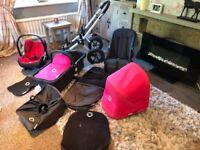 Beautiful bugaboo Cameleon 3 in 1 hot pink full travel system buggy pram