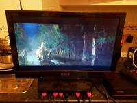"""Sony 22"""" HD DVD USB LCD TV + can deliver"""