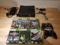 Xbox 360 S 250gb with 6 Games