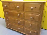 Large solid pine chest of drawers sideboard furniture/ cabinet Sutton sm3