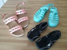 Kids Sandals, Ju Ju Jelly Shoes and Aqua Shoes, from