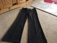 Two pairs ladies black trousers