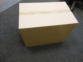 10 very strong double walled cardboard boxes. ideal for packing glassware, ornaments, books, kitchen