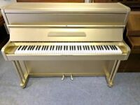 Refurbished Metallic Gold, Black & White Upright Console Piano - ONE OF A KIND - CAN DELIVER
