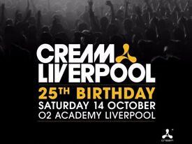 Cream 25th Birthday O2 Academy Liverpool, Liverpool, Sat 14 Oct 2017, 21:00