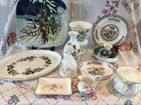 JOB LOT BONE CHINA VINTAGE COLLECTABLES ~WEDGEWOOD AND MORE