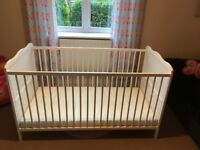***Like New*** White Cot Bed