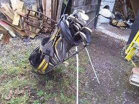 Set of nike golf clubs with bag