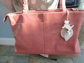 Pink Radley hand bag with dust cover